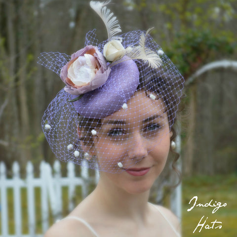 MIDSUMMER - Lilac Button Fascinator