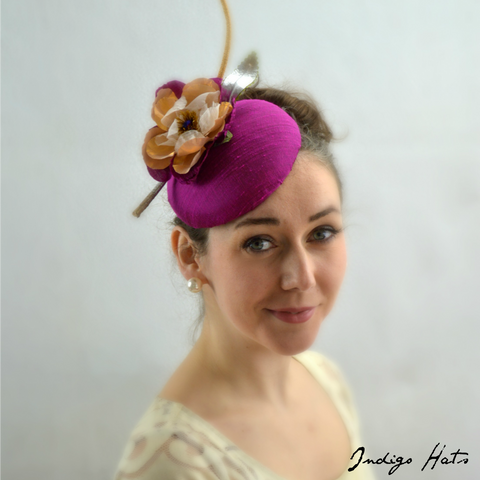 GILDED - Orchid Silk Pillbox Hat