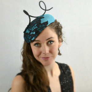 MODENA - Turquoise and Black Beret Style
