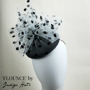 FLOUNCE - Black and White Cocktail Hat