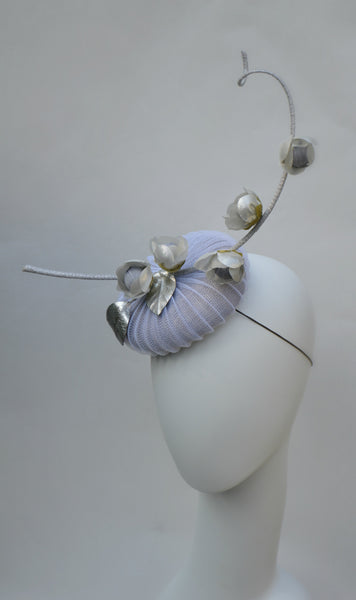 MOONSHADOW -  Gray Button Fascinator
