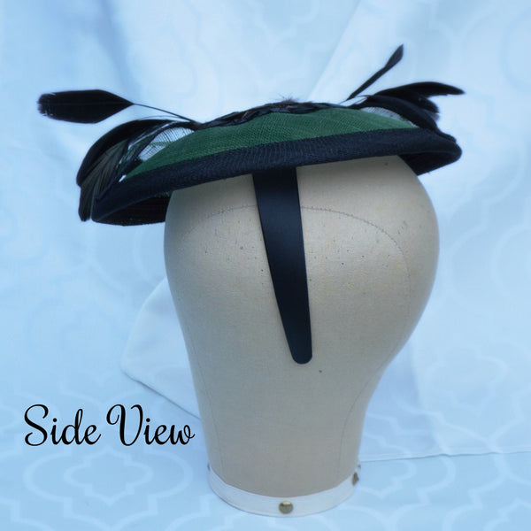 EMERALD CITY - Green Saucer Headpiece