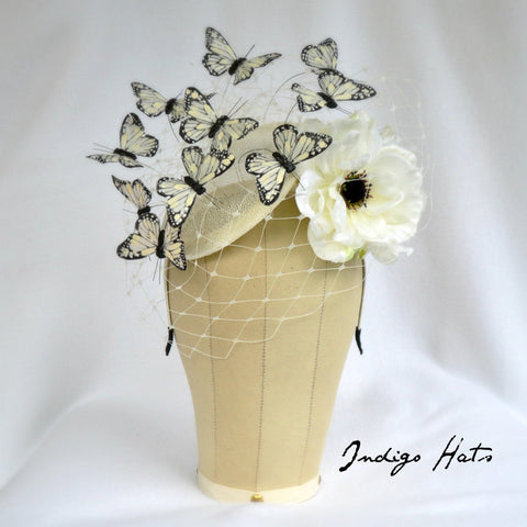 MARIPOSA - Ivory Butterfly Headpiece