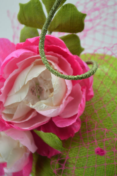 GARDEN PARTY - Pink & Green Pillbox