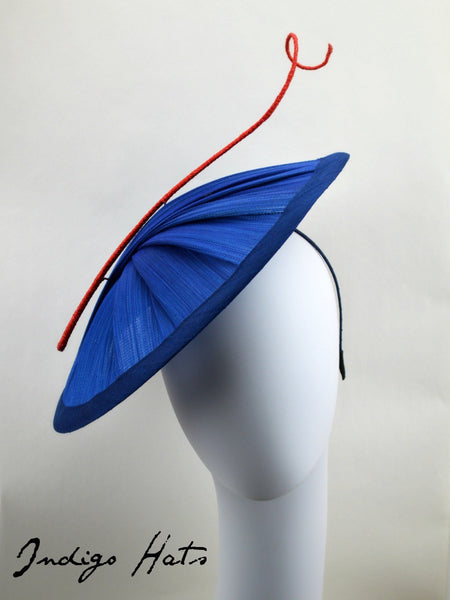 RIVIERA - Blue and Red Saucer Hat