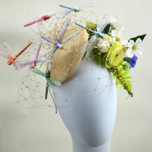FANCIFUL DRAGONFLY - Natural Fascinator