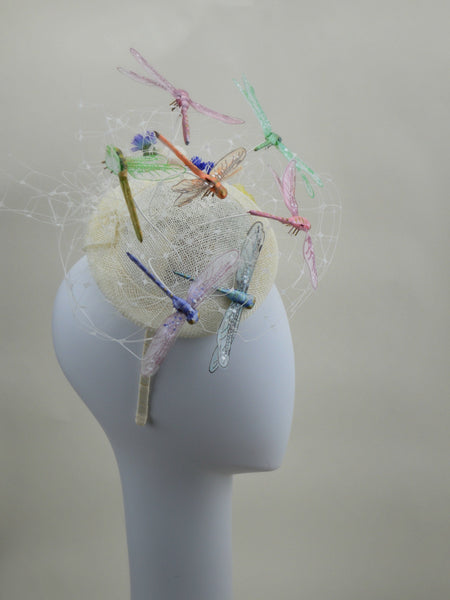 FANCIFUL DRAGONFLY - Headpiece in Ivory