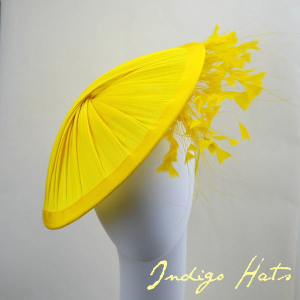 SUNSHINE -  Yellow Saucer Hat