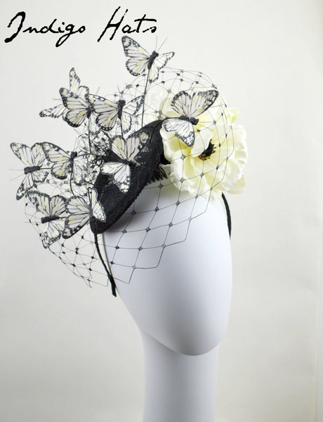MARIPOSA -  Cream and White Butterfly Headpiece