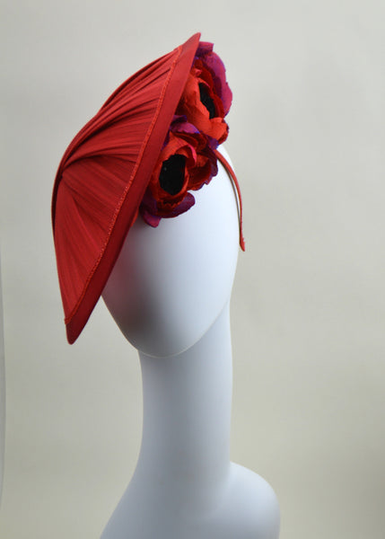 MILAN - Red Saucer Hat
