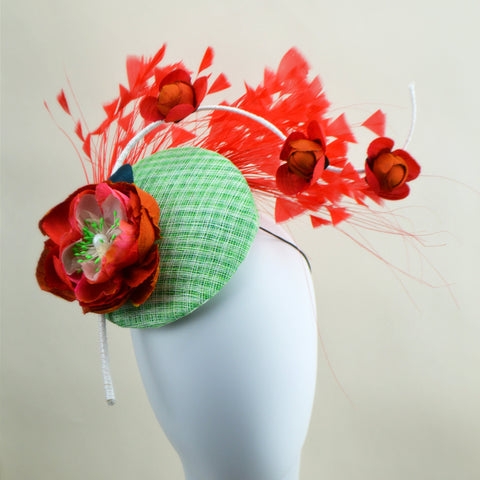 MADRID - Orange and Green Percher Hat