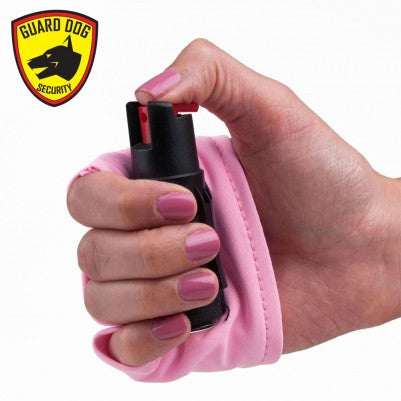 InstaFire Pink Personal Defense Pepper Spray 1/2 oz With Activewear Hand Sleeve