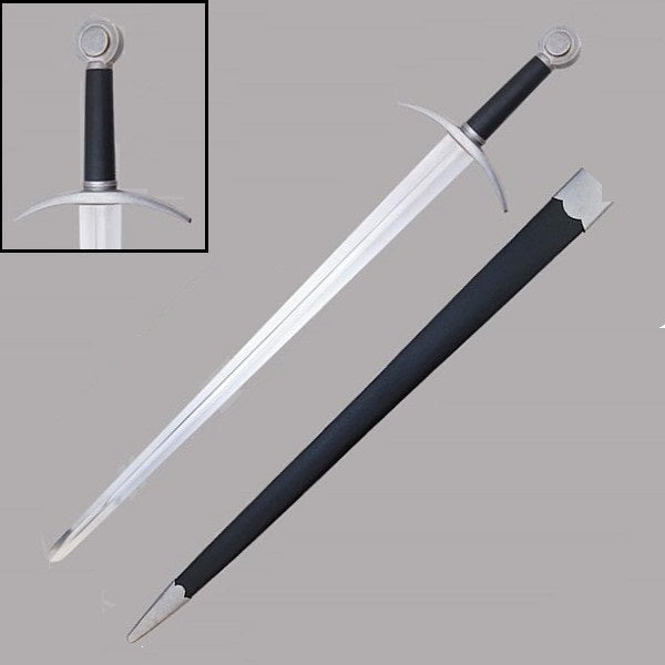 Dark Prince Medieval Knight Crusade Sword With Scabbard