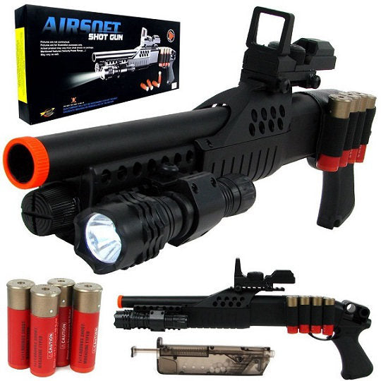 Spring M180A2 Pistol Grip Pump Action Airsoft Shotgun