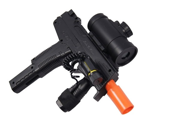M30GL Airsoft Gun Spring Uzi with Laser & Red Dot Scope and Tac Grip