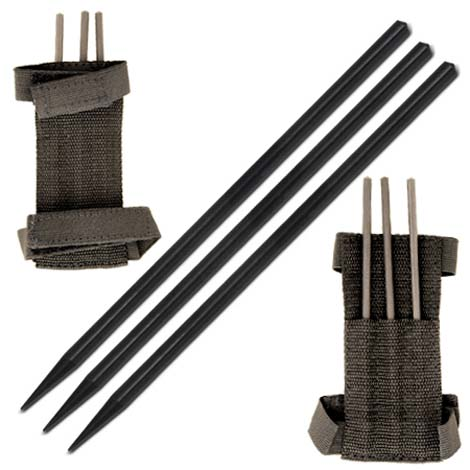 Ninja Assassin Arm Spikes 3pcs Set With Belt Pouch