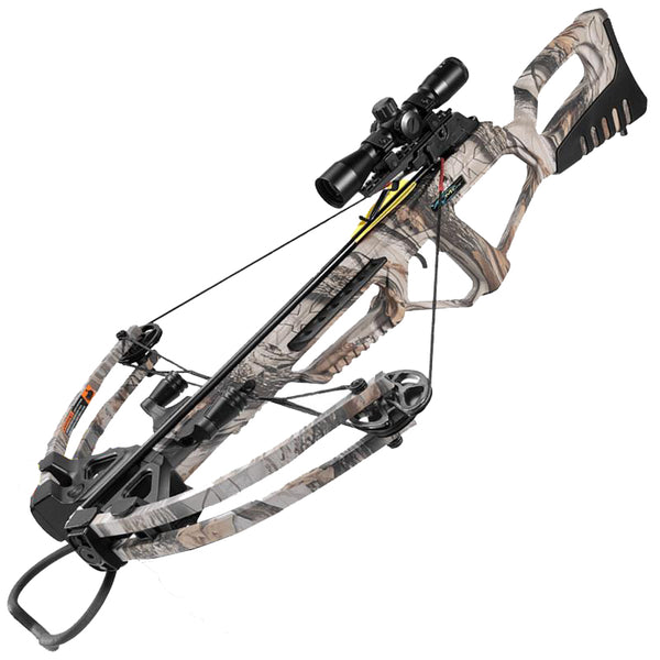 Valiant Camo Compound Rifle Crossbow 185 lbs 4x32 Scope Package