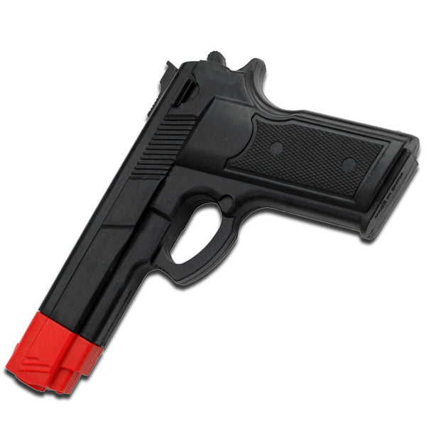 "7"" Black Rubber Training Gun Real Look and Feel"