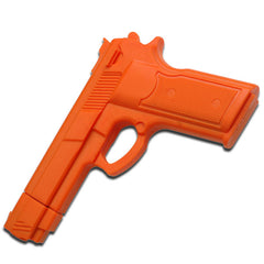 "7"" Orange Rubber Training Gun Real Look and Feel"