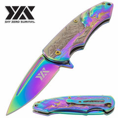 "7 3/4"" Assisted Opening Pocket Knife with 3-D Polar Bear Handle Design"