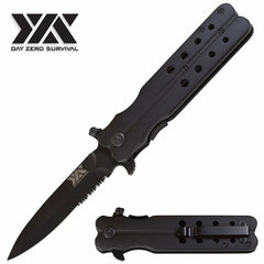 Mock Butterfly Stiletto Style Spring Assisted Open Day Zero Survival Pocket Knife