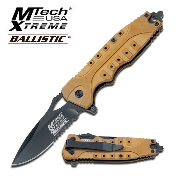 Tactical Assisted Opening Knife With Orange G10 Handle