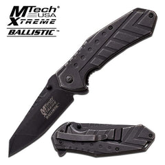 Mtech Extreme All Black Spring Assisted Pocket Folding Knife