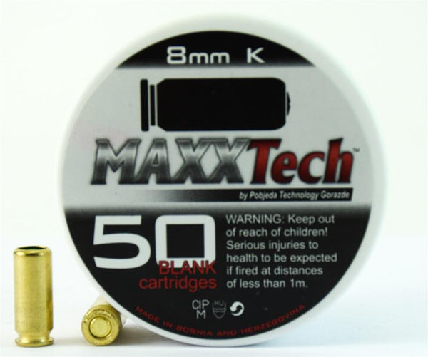 Cal. 8 MM Extra Loud Blank Gun Ammunition 50 Pack