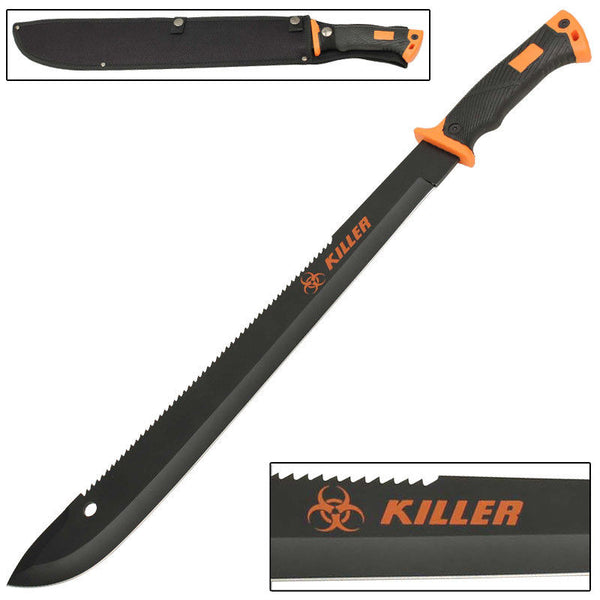 Outdoor Hiking and Backpacking Zombie Killer Macabre Bolo Machete Knife