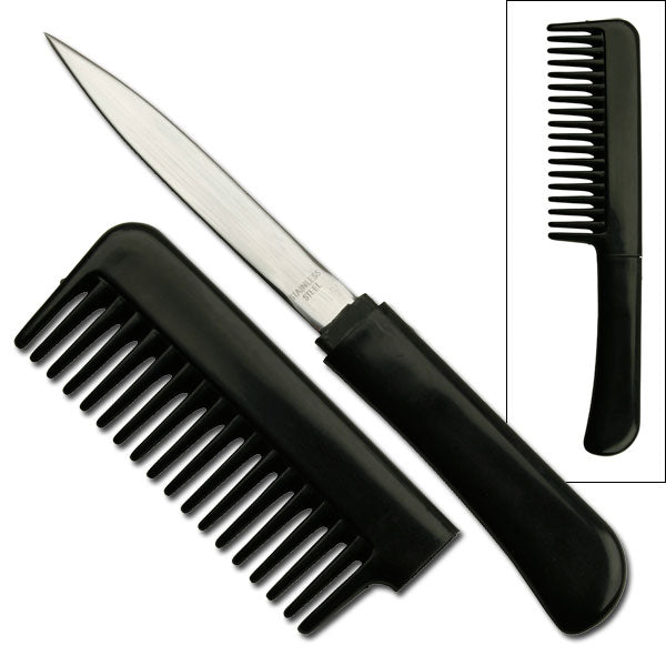 Black Comb With Hidden Knife