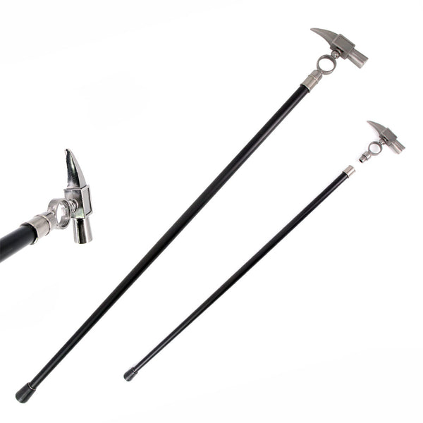34.5 Inches Aluminum Hammer Handle Style Gentleman's Walking Stick