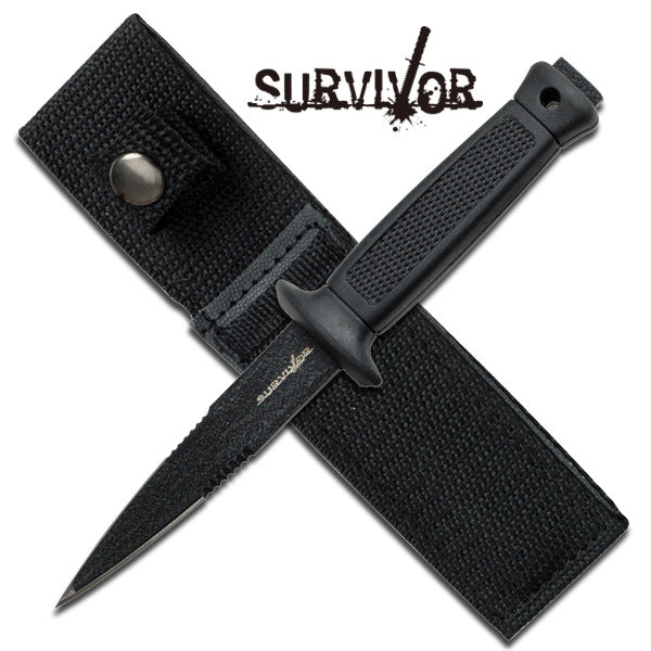 "6.5"" Double Edge Military Tactical Fixed Blade Boot Knife Thrower"