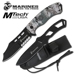 Digital Camo USMC Marines Grunt Fixed Blade Knife Thrower Set