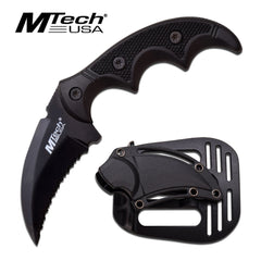 "5"" Hawk Blade Knife Tactical ABS Holster Black Full Tang Combat Karambit"