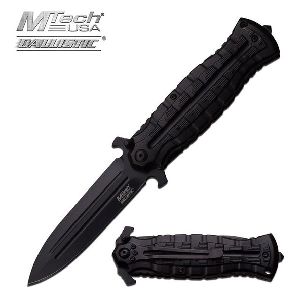 4.75 Inch Closed Black Dagger Style Spring  Assisted Opening Knife