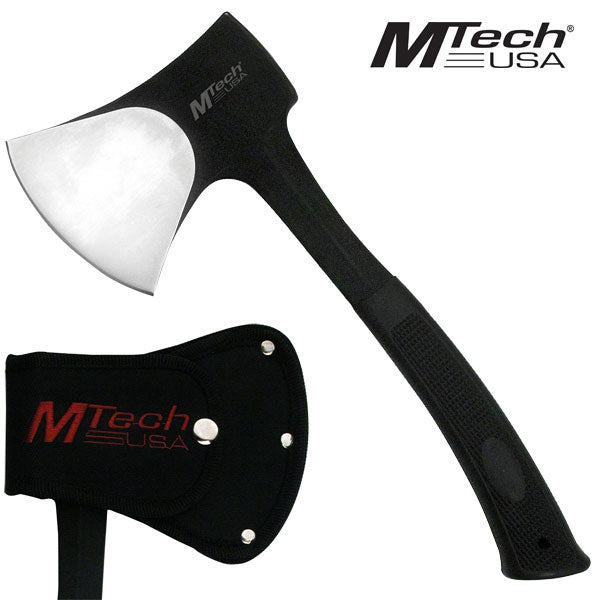 SOLID Heavy Duty Stainless Steel Camping Axe Black Hatchet Outdoor