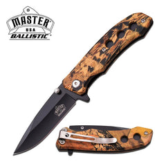 Ballistic Camo Handle Spring Assisted Folding Hunter Knife
