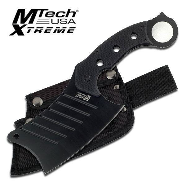 "MTech Extreme 12"" Fixed Blade Chopping Knife Stainless Full Tang Cleaver"