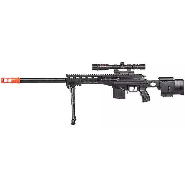 Tactical Spring Sniper Airsoft Rifle Gun With Laser Scope Bipod