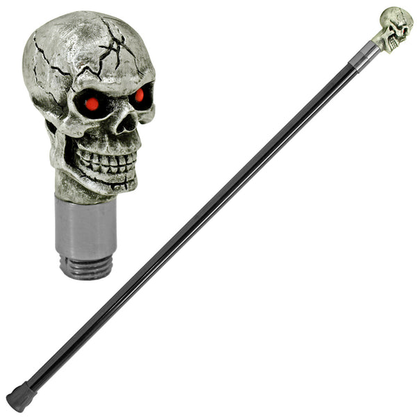 "34.5"" Dark Resurrection Skull Head Walking Stick"