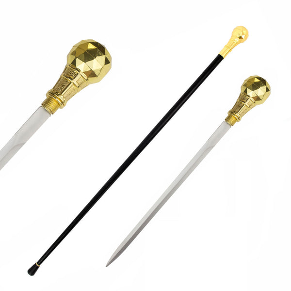 The Kingpin Golden Handle Walking Cane Sword