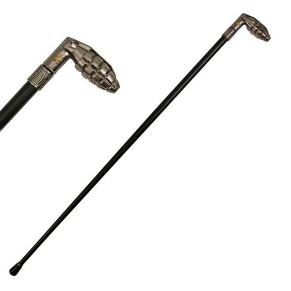 37 Inches Grenade Style Cane Gentleman's Walking Stick Cane