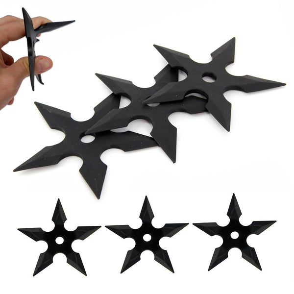 3 Pcs Rubber Training Five Point Ninja Shuriken Stars