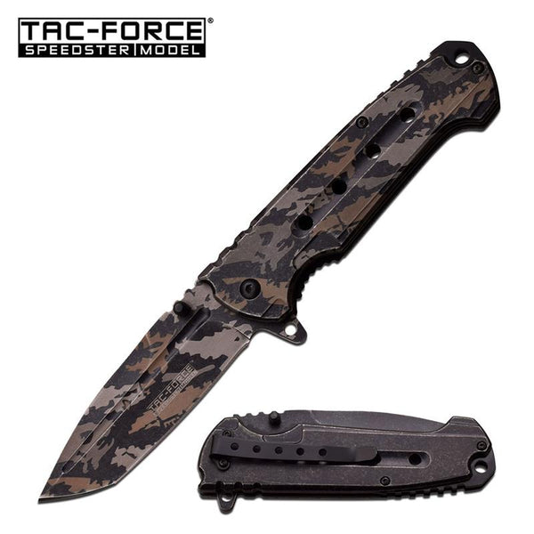 Tac-Force 4.75 Inch Closed Laser Digital Camo Spring Assisted Opening Knife