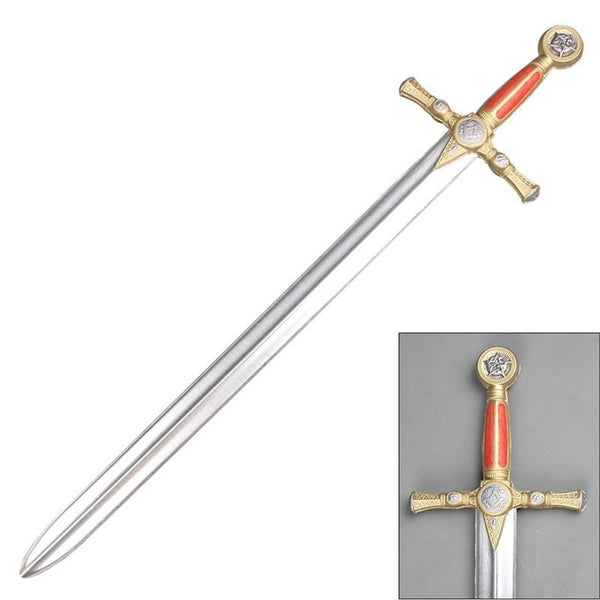 "40"" Classic Masonic Foam Sword with Metallic Chrome Blade"