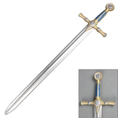 "40"" Masonic Foam Cosplay Sword with Metallic Chrome Blade"
