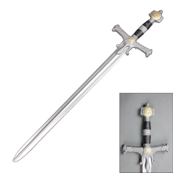 "42"" King Soloman Medieval Foam Cosplay Sword with Metallic Blade"