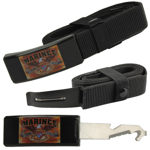 Marines Adjustable Nylon Covert Belt Knife Self Defense Hidden Blade