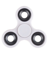 Stress Relief Hand Spinner and Spinning Tri Fidget High Speed White