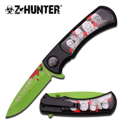 8 Inch Overall Length Zombie Spring Assisted Knife